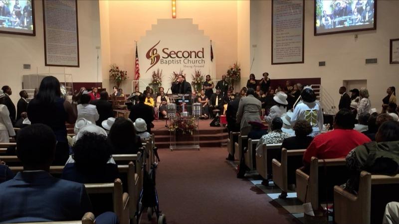 A celebration of voting on Sunday at church
