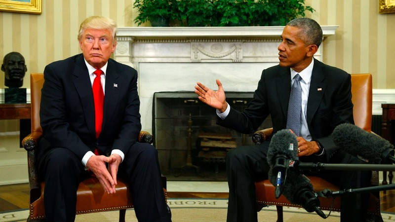 Obama and Trump talk transition at White House