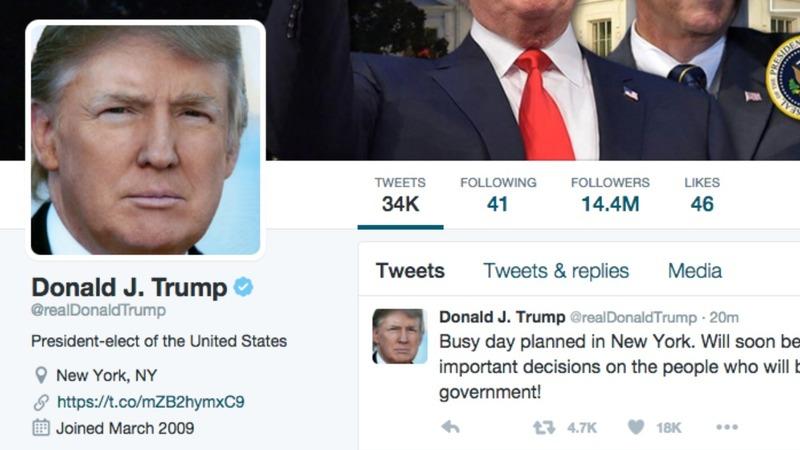 Trump incites tweetstorm after bashing protesters