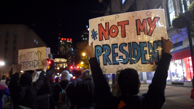 Anti-Trump protests ignite throughout weekend