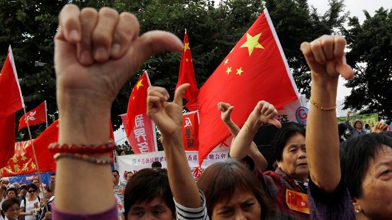 INSIGHT: Pro-Beijing rally in Hong Kong