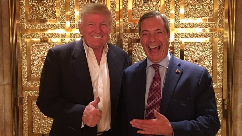 Trump meets Britain's Brexit firebrand