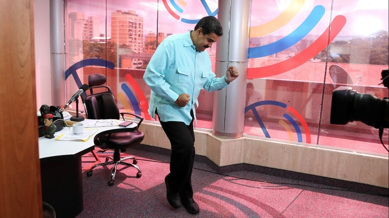 Amid crisis, Venezuela's president hosts 'The Salsa Hour'