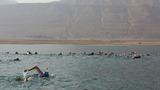 Swimmers cross Dead Sea to highlight plight