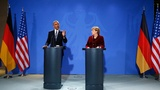 Obama meets Merkel on farewell tour