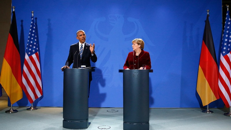 Obama meets Merkel on farewell tour