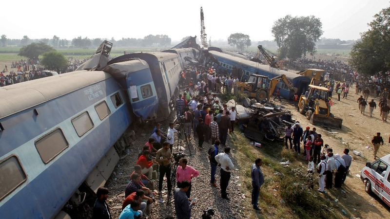 Train derailment in India kills dozens