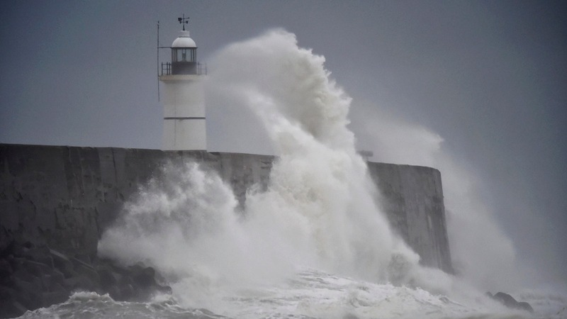 Storm Angus batters Britain's south coast