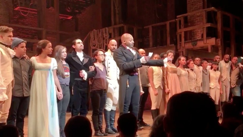 Pence not offended by remarks at 'Hamilton'