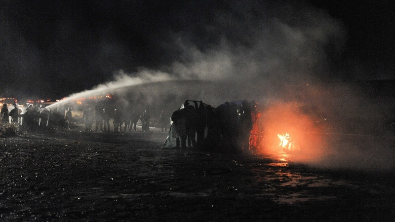 Water cannons, fires, tear gas in latest Dakota Pipeline clash