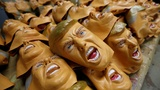 Japanese mask factory cashes in on Trump's win