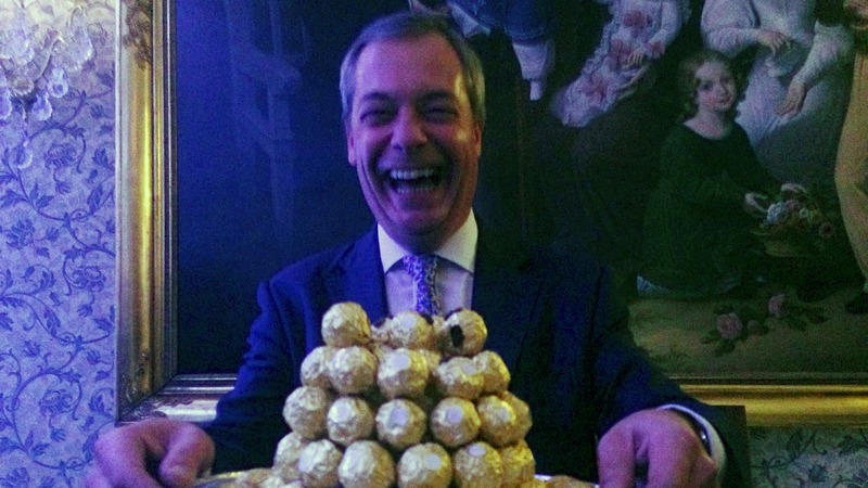 Farage plays the ambassador at Brexit party