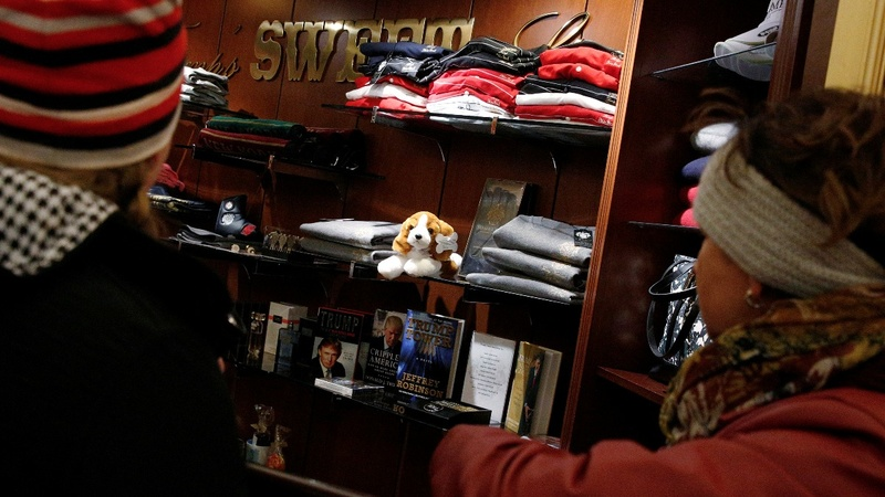 President-elect swag flying off the shelf at Trump Towers