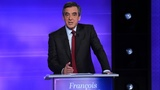 French presidential hopeful Fillon in front