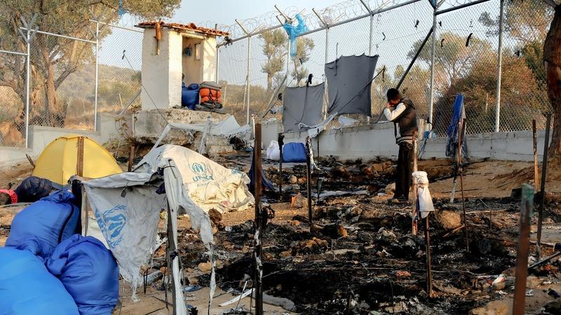 INSIGHT: Fire at Greek migrant camp kills two