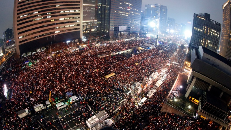 Largest protests yet against S. Korea President