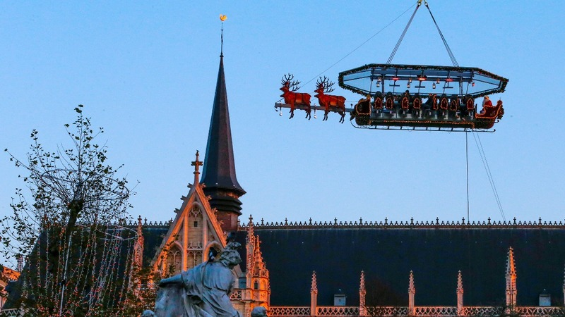 INSIGHT: Santa serves up dinner in the Brussels sky