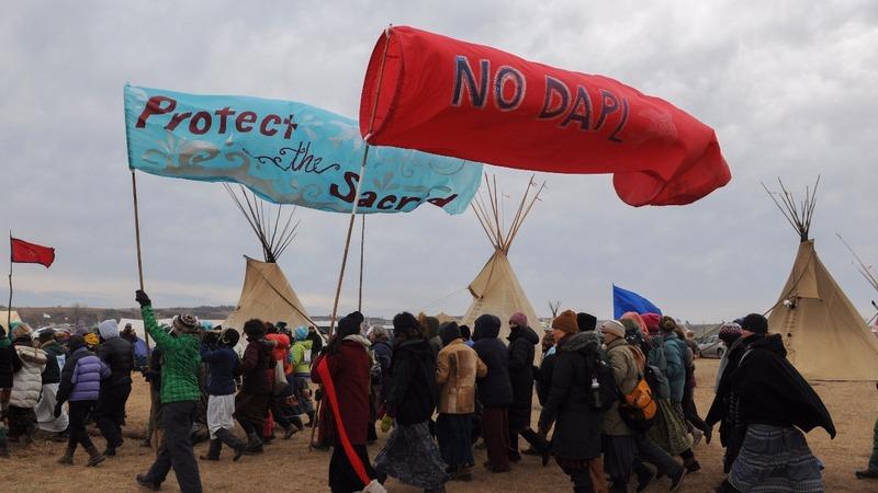 North Dakota protesters defy governor's order
