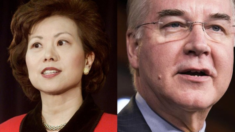 Beltway insiders Chao, Price Trump's latest Cabinet picks
