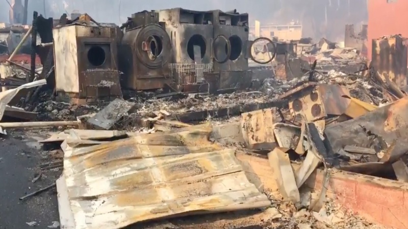 Towns scorched in Tennessee wildfires