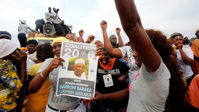 Gambia's 22-year president in rare election challenge