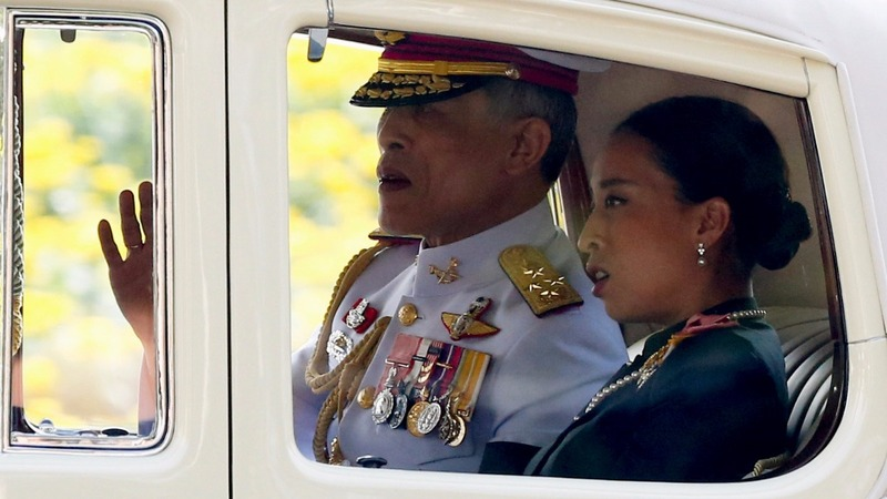 A first public appearance for Thailand's new king