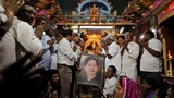 Indians grieve in the streets after death of 'mother'