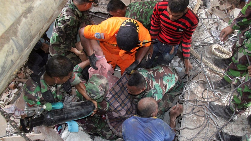 At least 100 killed in Indonesia earthquake