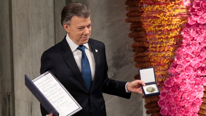 INSIGHT: Colombia's Santos receives Nobel Peace Prize