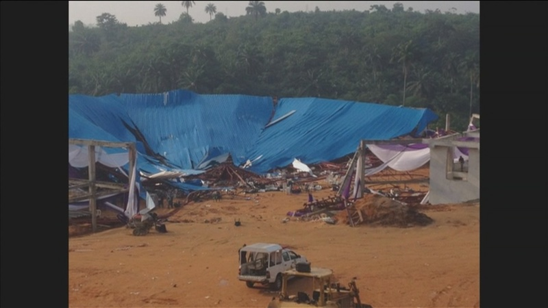 Worshippers killed in Nigeria church collapse