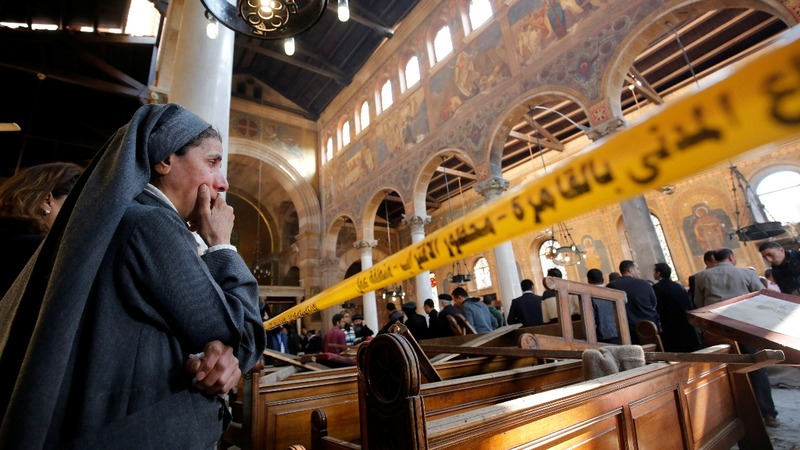 Accusations fly after Egypt church bombing
