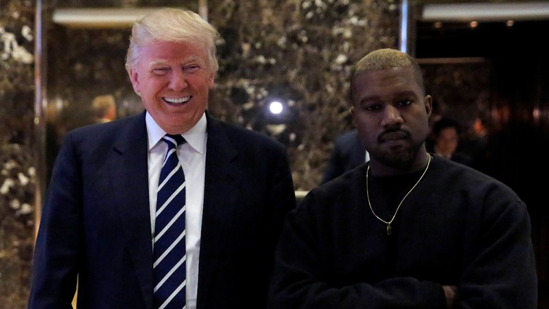 Kanye West hangs out with the president-elect