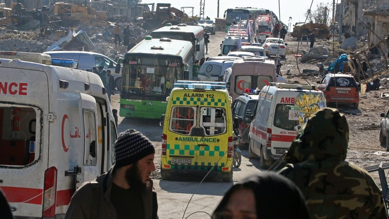 Aleppo evacuation gathers pace