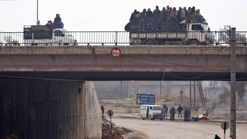 Evacuation of Aleppo rebels stalls
