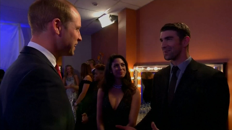 INSIGHT: Prince William and Michael Phelps meet at BBC event