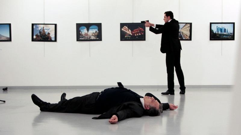 Russian ambassador shot dead in Turkey