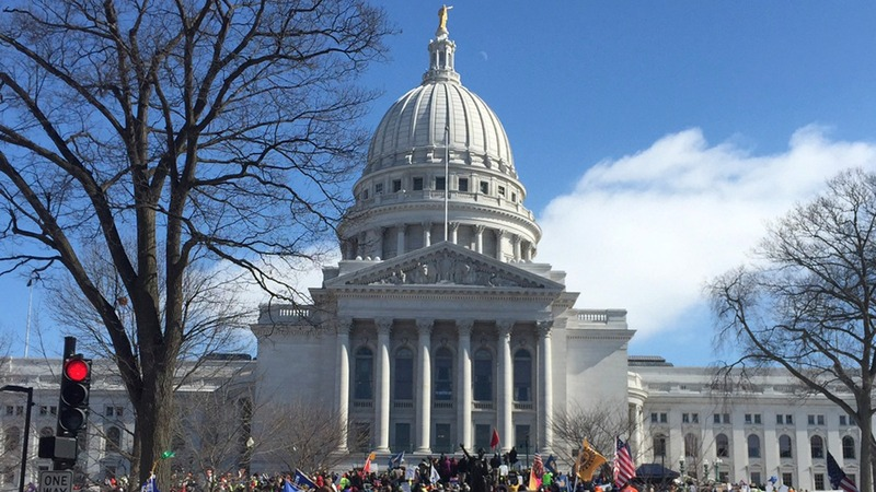 "INSIGHT: Protesters yell ""SHAME!"" at Wisconsin electors"