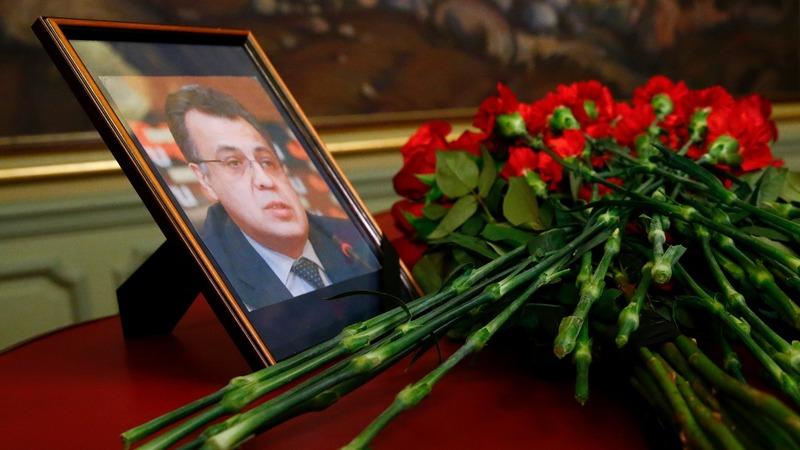 Six arrested following Russian envoy's death