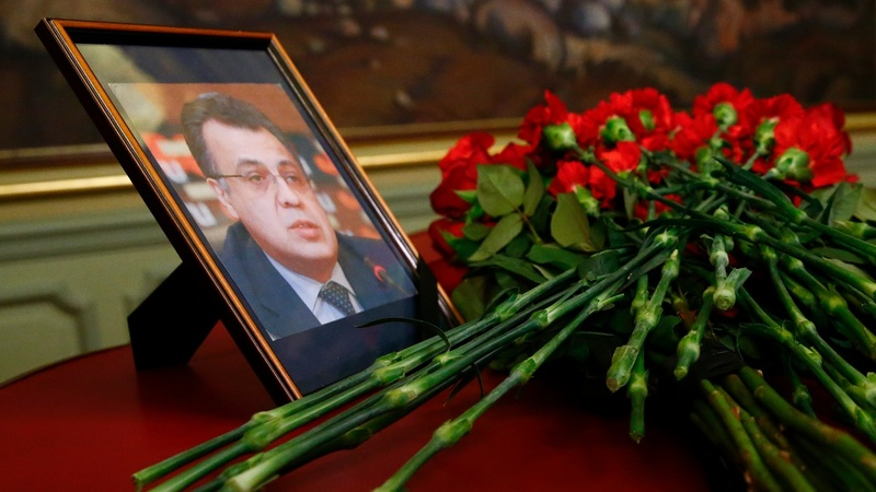 Six arrested following Russian envoy's death