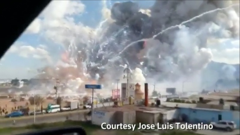 Deadly Mexico fireworks market blast caught on video
