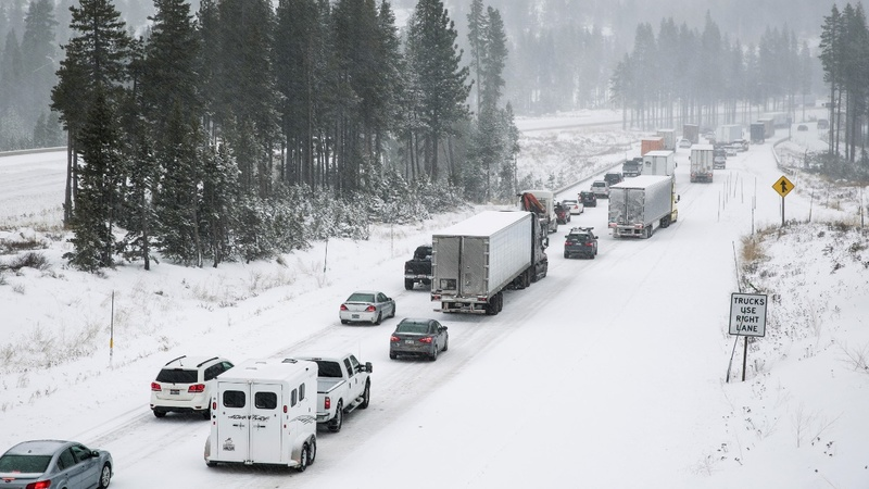Winter storms to choke travel for top half of U.S.