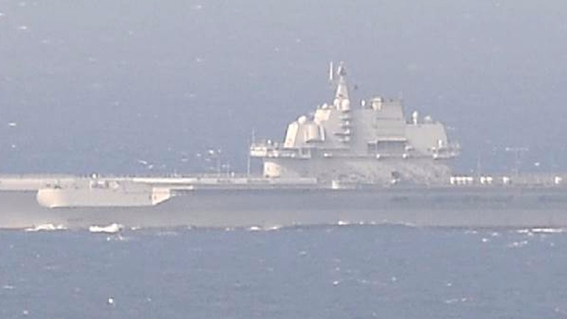 China's navy buzzes Taiwan