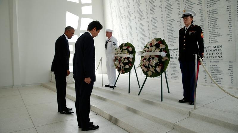 U.S., Japan mark 7 decades of peace at Pearl harbor