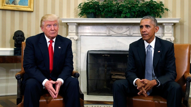 Trump and Obama are getting along fine — 'NOT!'