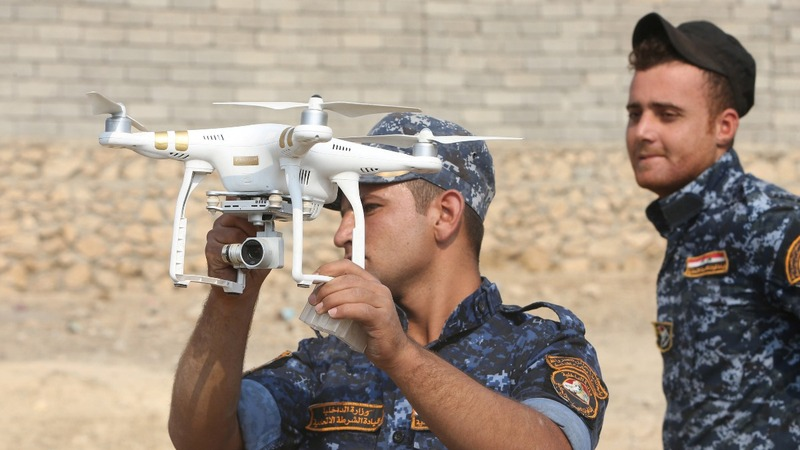 Iraqi forces rely on drones for Mosul advance