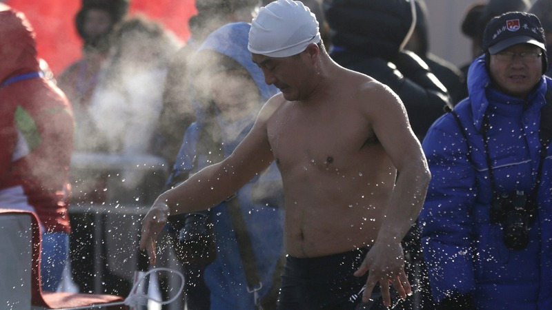 INSIGHT: Cold rivalry in ice swimming competition