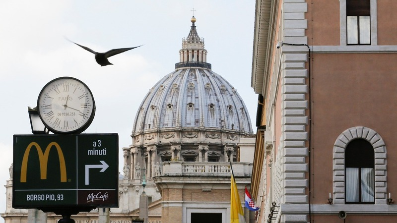Holy Cow! 'McVatican' opens for business