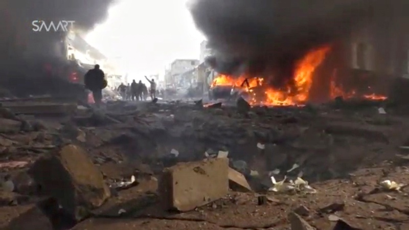 Fuel truck blast kills dozens in Syrian border town