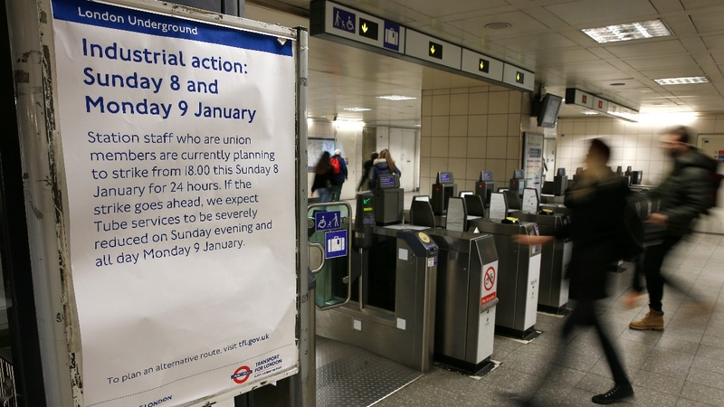 Londoners face Tube misery as workers strike