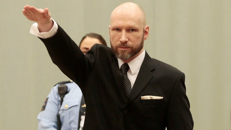 Mass killer Breivik Nazi salutes in court